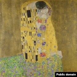 Густаў Клімт, «Пацалунак» (1908)