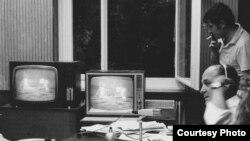 Высадка человека на Луну. Прямой репортаж из радиостудии. Чехословацкая редакция Радио Свободная Европа, 1969