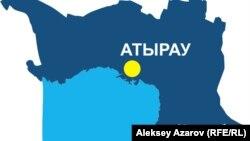 Региональная карта Атырауской области.