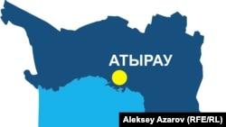 Карта Атырауской области.
