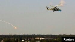 Украинаның Ми-24 тікұшағы. Донецк, 26 мамыр 2014 жыл.