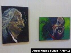 من معرض الفنان منصور البكري في دهوك