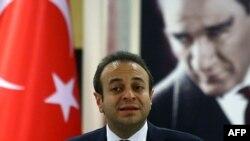 Turkey -- Turkish State Minister of Charges of European Union Egemen Bagis speaks to the media in Ankara, 09Nov2010