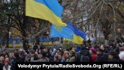 Євромайдан у Сімферополі, 1 грудня 2013