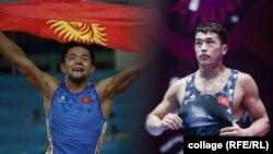 Кыргызстандык балбандар Калы Сулайманов жана Акжол Махмудов.