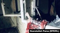بیرق گروه طالبان در یکی از صنفهای پوهنتون کابل