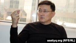 Айдар Алибаев, председатель НПО «Финпотребсоюз», бывший глава Ассоциации пенсионных фондов Казахстана. Алматы, 2 апреля 2014 года.