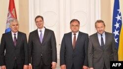 Dragan Čović, Aleksandar Vučić, Mladen Ivanić i Bakir Izetbegović u Sarajevu