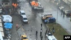 На місці нападу, Ізмір, 5 січня 2017 року