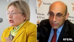Azerbaijan -- Leyla Yunus, Director of the Institute of Peace and Democracy, and Arif Yunus, political scientist, combo, undated