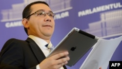Romanian Prime Minister Victor Ponta (file photo)