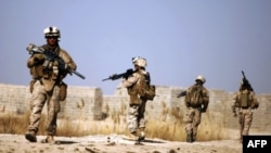 U.S. Marines patrol in Helmand Province (file photo)