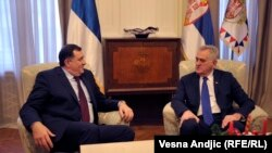 Milorad Dodik, predsednik bh. entiteta Republika Srpska, i Tomislav Nikolić, predsednik Srbije