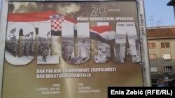 """Plakat u Zagrebu povodom obilježavanja 20. obljetnice operacije """"Oluja"""", 2015."""