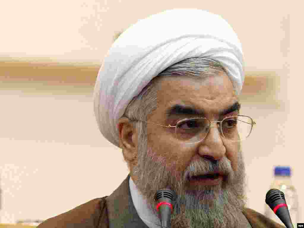 """THE MODERATE: Hassan Rowhani, 65, served as Iran's chief nuclear negotiator under reformist President Mohammad Khatami and is considered to be a critic of Ahmadinejad. He has said he does not """"deny"""" his possible participation in the presidential vote. Rowhani told reporters on January 1 that members of some political parties, members of the Assembly of Experts, and lawmakers -- from both the conservative and reformist camps -- have talked to him about running. Rowhani is currently a member of the Assembly of Experts and the head of the Center for Strategic Research. He has said the future president will have to face numerous problems. """"Whoever wants to become president needs to have a program to deal with the problems,"""" he said. """"And if I decide to run, I will definitely have a program."""""""