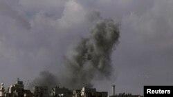 Алеппонун чет жакасы. 2-мартта тартылган сүрөт.