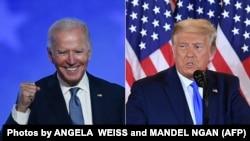 Joe Biden (stânga) și Donald Trump (dreapta)