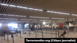 Аэропорт Брюсселя после взрывов 22 марта 2016 года.