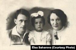 Армин Стромберг с женой Лидией и дочерью Эльзой