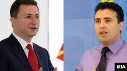 Лидерот на ВМРО ДПМНЕ, Никола Груевски и лидерот на опозицискиот СДСМ Зоран Заев.