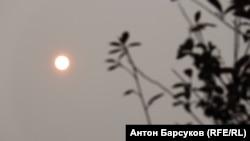 Так выглядит солнце в Новосибирске
