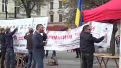 Lvivdeki aktsiya: «Bütün dünya Qırımda olıp keçkenlerni bilsin isteymiz» (video)