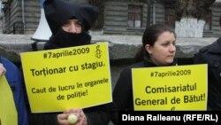 Amnesty International cere pedepsirea celor care au torturat în aprilie 2009. Miting de protest în 3 aprilie 2013 la Chișinău.