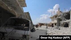 Oraşul Al Habit, provincia Idlib, după bombardamentele lansate de către forţele guvernamentale, 9 septembrie 2018