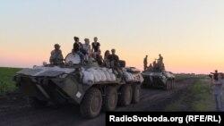 Українським воякам з АТО біля Ізюма співали пісень