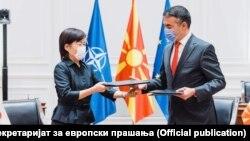Вицепремиерот Никола Димитров и амбасадорката на Јапонија во Северна Македонија, Кеико Ханеда
