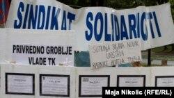 Jedan od protesta radnika u Tuzli, na čelu sa Sindikatom solidarnosti