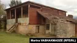 The Khurtsidze family home in Dikhashkho, in western Georgia