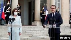 Maia Sandu și Emmanuel Macron