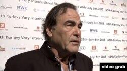 U.S. film director Oliver Stone speaks to Radio Farda during the Karlovy Vary film festival.
