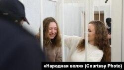 Дар'я Чульцова і Кацярына Андрэева ў судзе, 18 лютага 2021