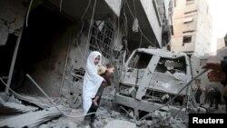 Дамаск маңындағы Дума қаласы. Сирия, қаңтар, 2016 жыл. (Көрнекі сурет.)