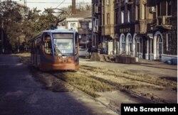 Трамвай на маршруте
