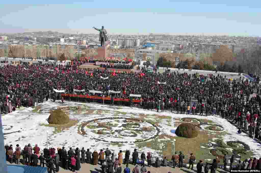 RFE/RL's Kyrgyz Service says more than 10,000 people took part in the March 1 rally.