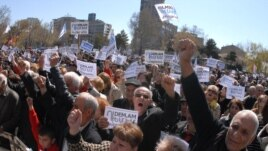 The Dem.am civil initiative held a rally in Liberty Square, Yerevan, Armenia, 22 March 2014