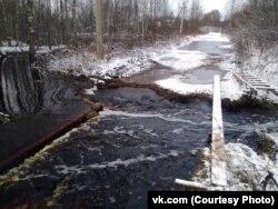 Размытый мост в Вологодской области