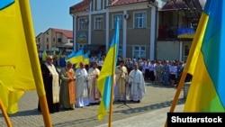 Під час відзначення Дня Незалежності України в місті Тисмениці Івано-Франківської області, 24 серпня 2018 року