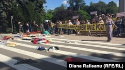 La protestul de la Chișinău