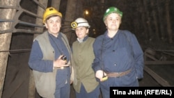 Hata Hasanspahić, Jasmina Salihspahić i Almedina Kaljun, miners, Breza, undated