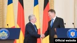 Joachim Gauck și Klaus Johannis la București