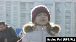 Romania - Bucharest, children protest