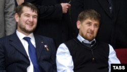 Ramzan Kadyrov (right) with Vostok commander Sulim Yamadayev (L) and Chechen Prime Minister Ramzan Kadyrov in December 2006