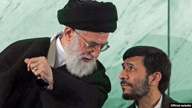 President Mahmud Ahmadinejad (right) and Ayatollah Ali Khamenei no longer see eye to eye.
