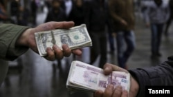 The black market for currency in Iran. FILE PHOTO