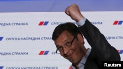 Бош вазир Александр Вучичнинг Прогрессив партияси 48 фоиз, коалициядош Социалистлар партияси 11 фоиз овоз билан ғалаба қилди