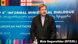 Վրաստան - ԵՄ հանձնակատար Յոհանես Հանը Թբիլիսիում, 26-ը նոյեմբերի, 2016թ․